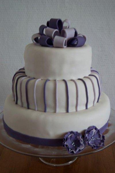paarse bruidstaart