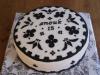 Black-white cake